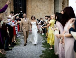Getting married in the church in Montepulciano tuscany