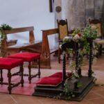 Decorazioni inginocchiatoio sposi | organizzatrice eventi Siena Toscana