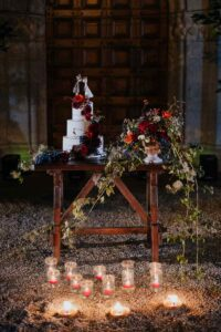 Allestimento tavolo torta nozze| organizzatrice eventi Siena Toscana